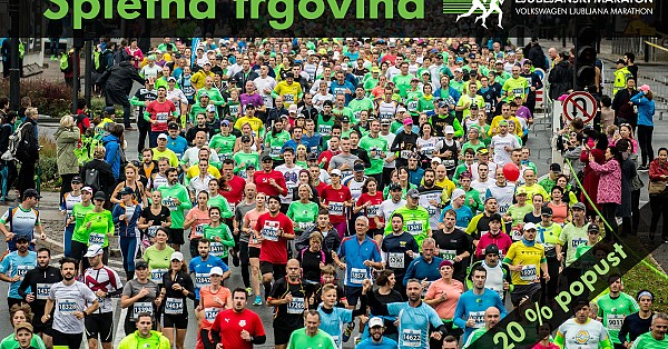 Discounts in marathon shop during the Virtual Ljubljana marathon